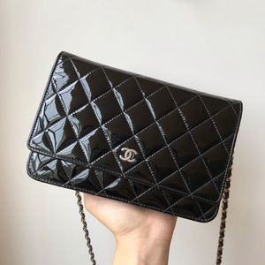 SOLD Chanel wallet on chain woc in patent